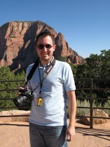 Jens am Viewpoint im Kolob Canyon